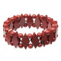 Bracelet losanges en jaspe rouge